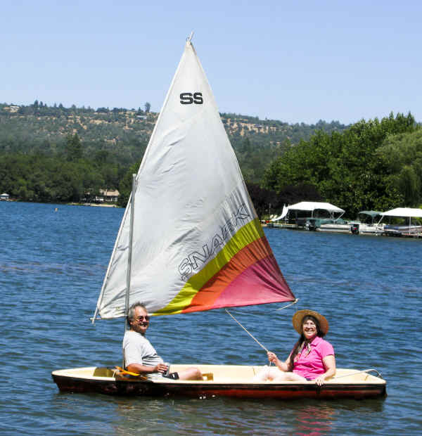 Super Snark Sailboat with two adults