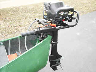 Sportspal Square Stern Canoes Handle up to 5 Horsepower Gas Outboard Motors