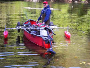 Red Cplor Stabilizer Canoe Floats