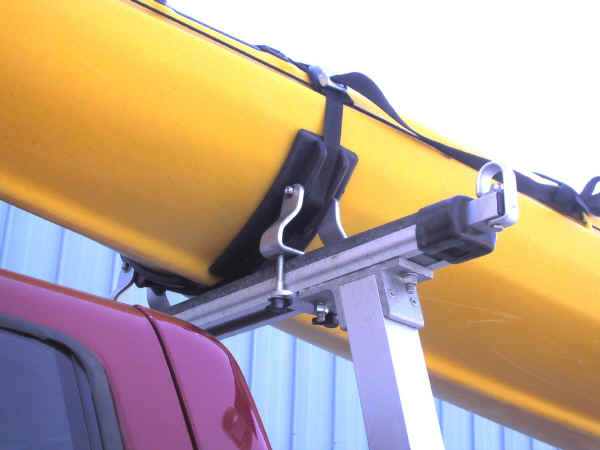 Kayak Saddles on Truck Rack
