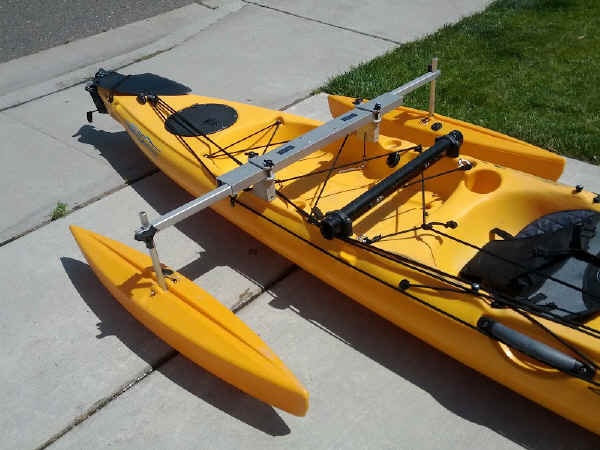 Fishing in Kayak with Hydrodynamic Floats