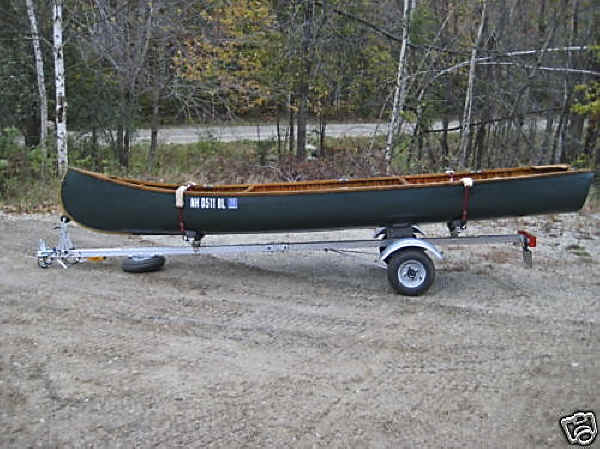 Trailex SUT-200-S Trailer Shown With Wood Canvas Canoe
