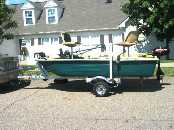 Trailex-SUT-250-S Boat Trailer with  a Bass Boat