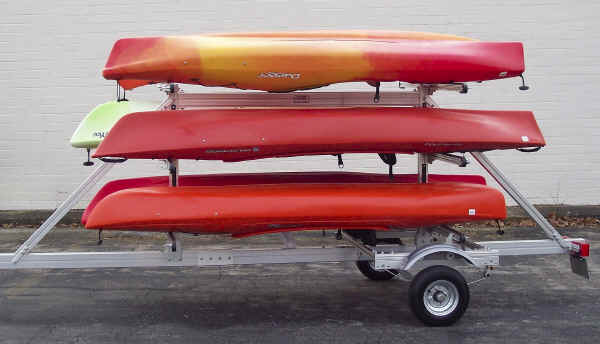 SUT-450-M6 Multiple Kayak, Paddle Board, and Sailboard Trailer