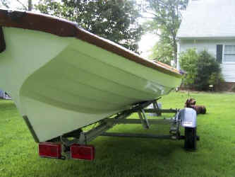 Melonseed Rowing Skiff on Trailex SUT-500-S Trailer